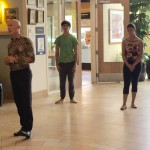 The artistic director instructing his dancers