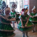 The Tap Dancing Christmas Trees performing to a medley of Christmas hits.