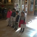 The children sang in English, Japanese and Chinese!