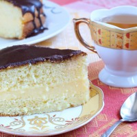 Boston Cream Pie And Green Tea