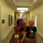 Parading through the halls of The Gardens.