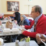 The residents enjoying their ice cream at Fentons Creamery.