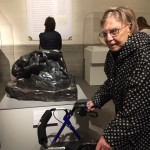 Rodin's sculpture captivating and inspiring our resident who is one of our regular Art Museum visitors.