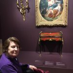 Not only were there paintings to peruse but furniture and table settings and elaborate brocaded costumes.