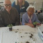 Katherine with some of our residents.
