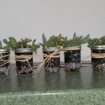 These succulents were planted in mason jars by individual residents.