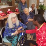 After the performance the dancers answered questions then mingled with the residents.